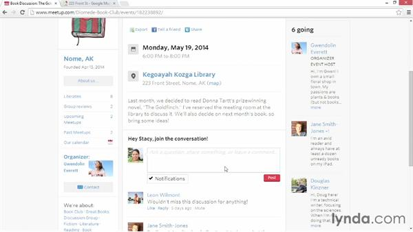 Browsing Meetups: Up and Running with Meetup