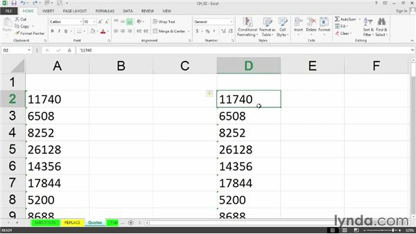 Removing leading single quotes: Cleaning Up Your Excel 2013 Data
