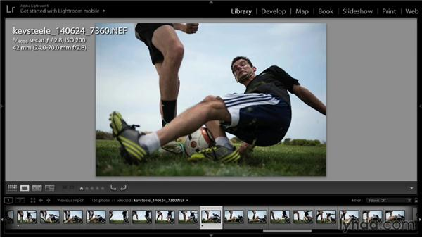 Using Lightroom to evaluate and sort selects: Shooting a Soccer Action Photo