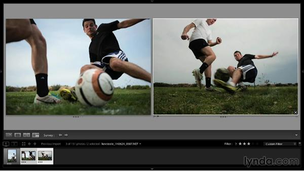 Working through the selects in Lightroom: Shooting a Soccer Action Photo