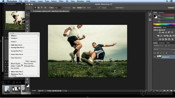 Editing the select from the soccer action photos: Shooting a Soccer Action Photo