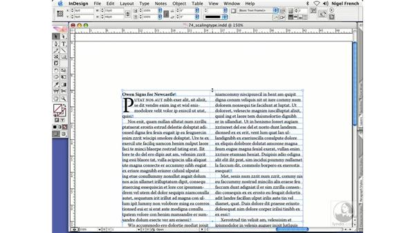 Scaling type: InDesign CS2 Professional Typography