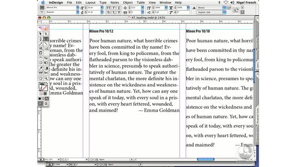 What is leading?: InDesign CS2 Professional Typography