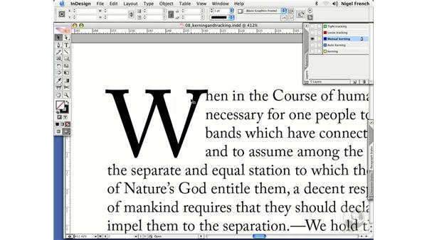 Kerning and other optical illusions: InDesign CS2 Professional Typography