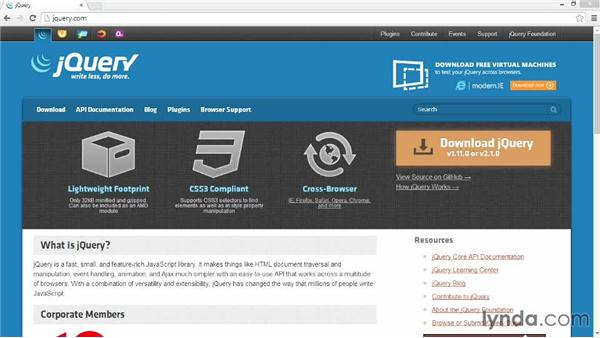 Download and install jQuery: Customizing Bootstrap 3 with LESS
