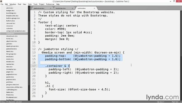 Styling the JumboTron: Customizing Bootstrap 3 with LESS