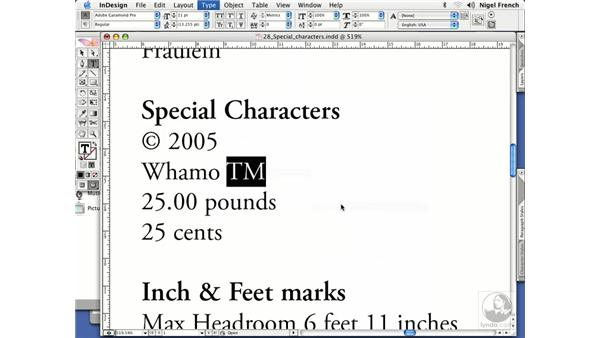 Special characters and typographers' quotes: InDesign CS2 Professional Typography