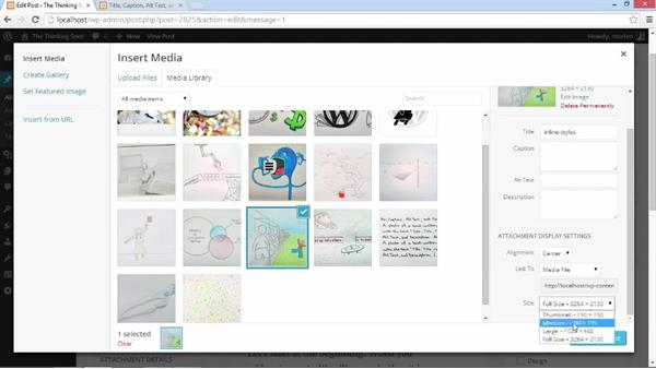 Images and image captions: Customizing WordPress Themes: Simone
