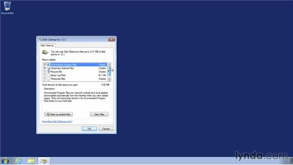 Using the Disk Cleanup utility on Windows 7: Speeding Up Your Home PC for Beginners