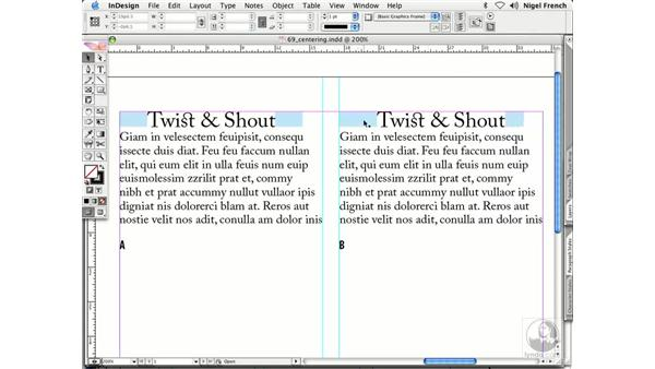 Resist the temptation to center: InDesign CS2 Professional Typography