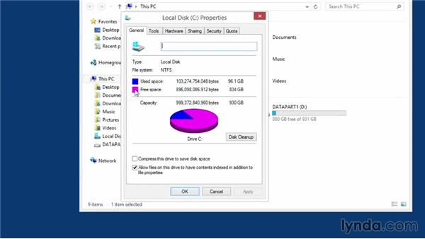 Checking for free space on your hard drive: Speeding Up Your Home PC for Beginners