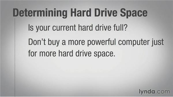 Determining hard-drive size: Speeding Up Your Home PC for Beginners