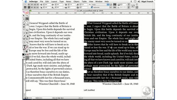 Pros and cons of justified text: InDesign CS2 Professional Typography
