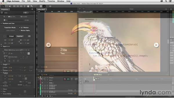 Welcome: Creating a Slideshow with Edge Animate