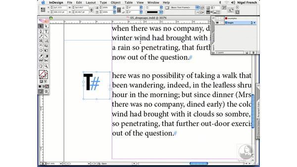 The purpose of initial caps: InDesign CS2 Professional Typography