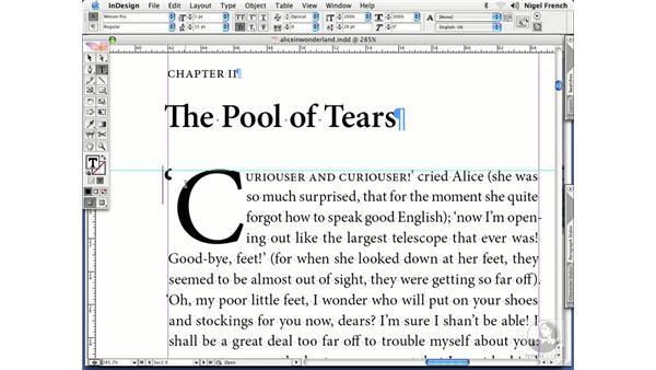 Tricky drop caps: InDesign CS2 Professional Typography