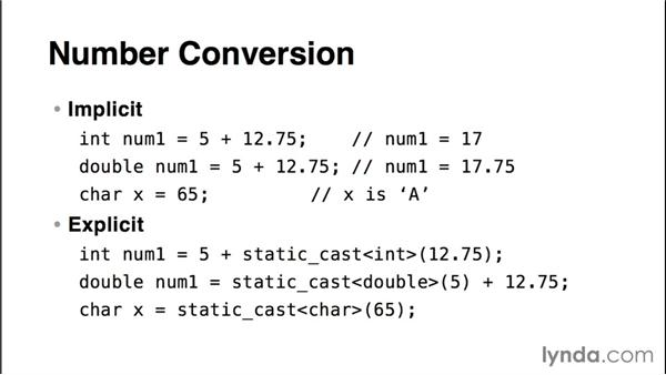 Understanding implicit and explicit conversion: Up and Running with C++