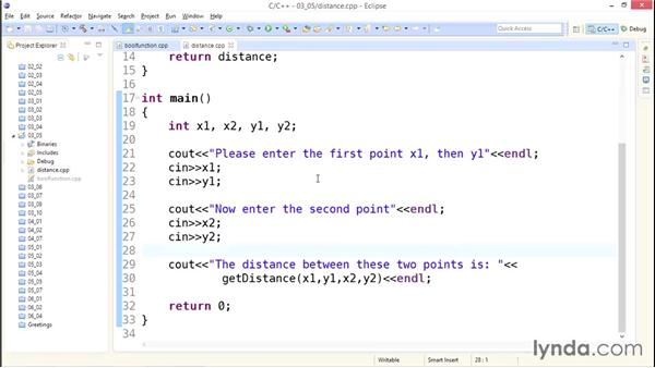 Creating user-defined functions: Up and Running with C++