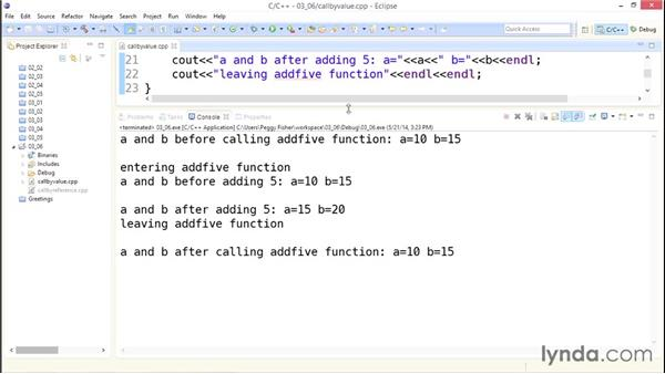 Call by value vs. call by reference: Up and Running with C++