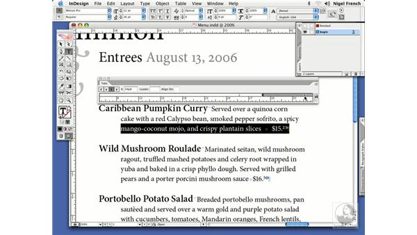 Dot, dot, dot... using tab leaders: InDesign CS2 Professional Typography