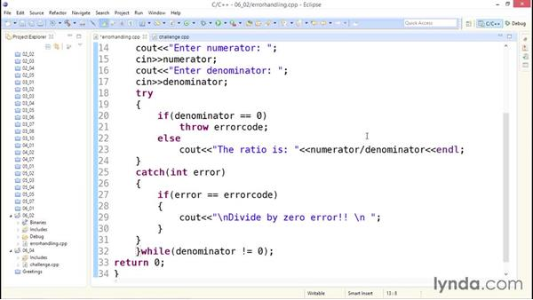 Error handling: Up and Running with C++
