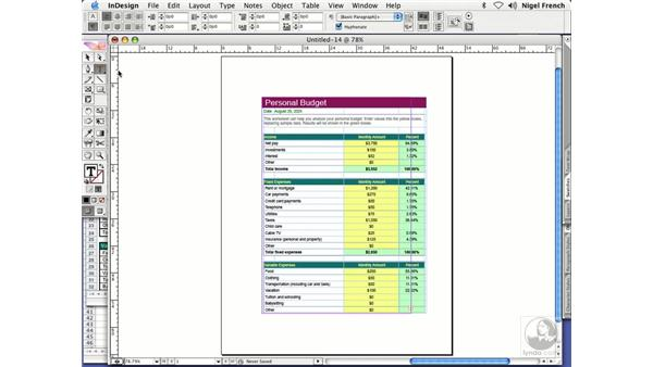 Importing tables from Word and Excel: InDesign CS2 Professional Typography