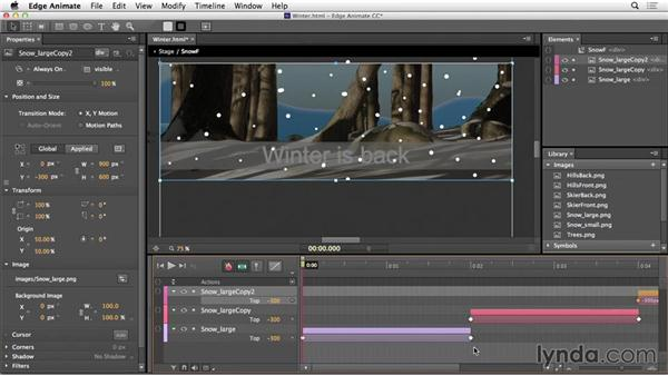 Create a looping animation in Edge Animate: Web Motion for Beginners: Final Project