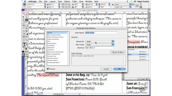 Editing styles: InDesign CS2 Professional Typography