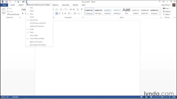 Customizing the Quick Access Toolbar: Migrating from Office 2007 to Office 2013