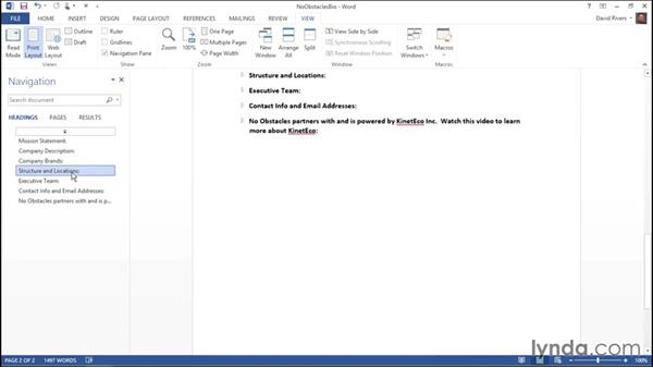 Searching with the Navigation pane: Migrating from Office 2007 to Office 2013