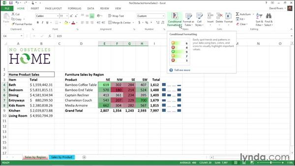 Using conditional formatting: Migrating from Office 2007 to Office 2013