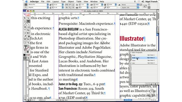 Working with manual overrides: InDesign CS2 Professional Typography