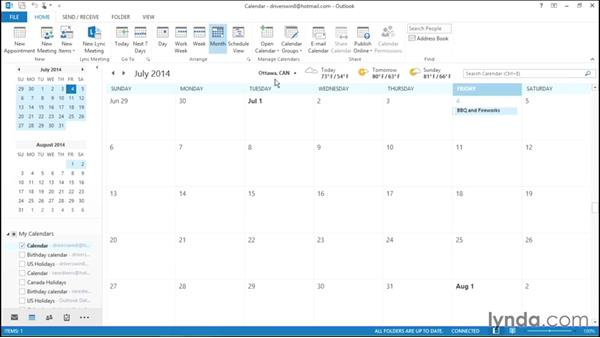 Viewing weather information in Calendar: Migrating from Office 2007 to Office 2013