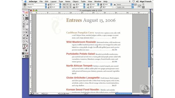 Using Quick Apply: InDesign CS2 Professional Typography