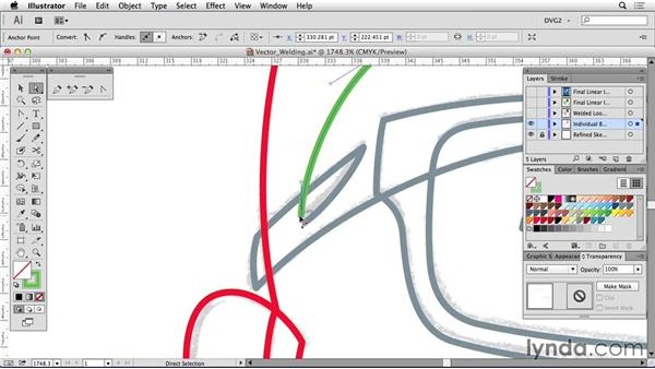 Vector welding: Drawing Vector Graphics: Linear Line Illustration