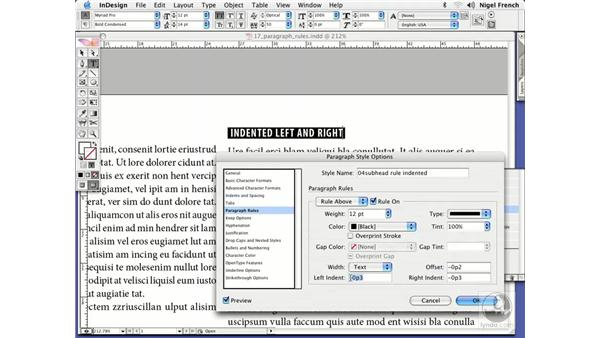 Paragraph rules: InDesign CS2 Professional Typography