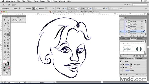 Brushes for linear line illustrations: Drawing Vector Graphics: Linear Line Illustration