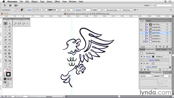 Symmetry and linears: Drawing Vector Graphics: Linear Line Illustration