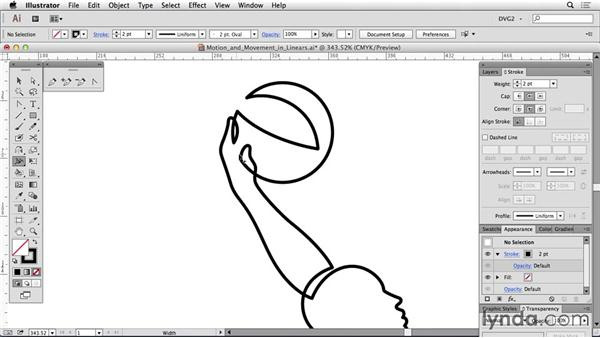 Motion and movement in linears: Drawing Vector Graphics: Linear Line Illustration