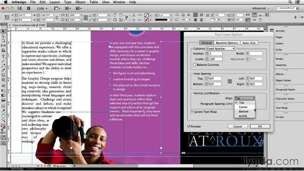149 Using vertical justification to spread out text in a frame automatically: InDesign Secrets
