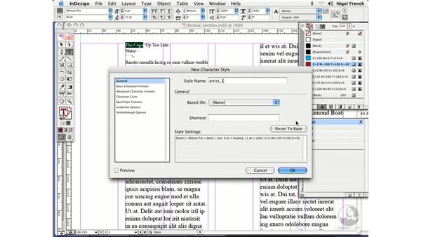 Nested styles in action: InDesign CS2 Professional Typography