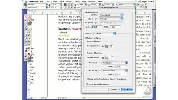Anchored objects: InDesign CS2 Professional Typography