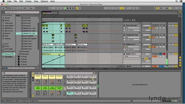 Working with drum loops in Drum Rack: EDM Production Techniques: Drums