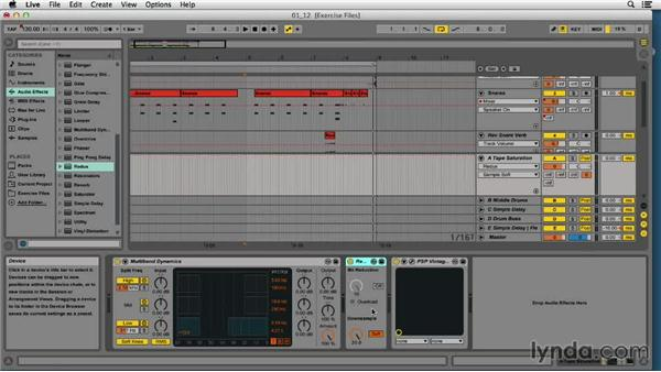 Creative drum FX and automation in Drum Rack and the Arrange page: EDM Production Techniques: Drums