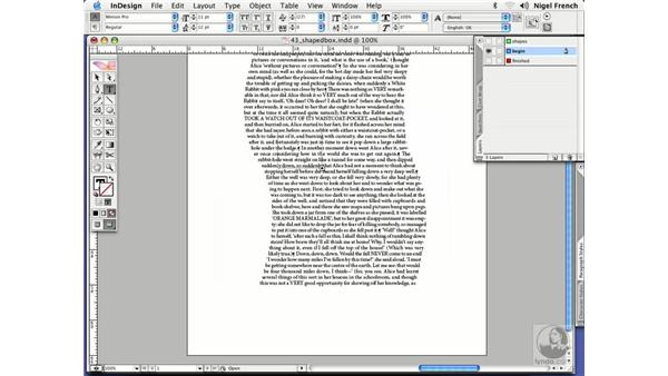 Silly text wrap tricks: InDesign CS2 Professional Typography