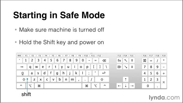 Using Safe and Verbose modes: Up and Running with Mac OS X Troubleshooting