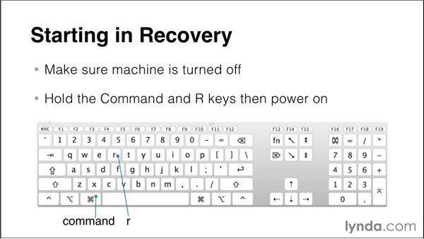 Launching and using the Recovery partition: Up and Running with Mac OS X Troubleshooting