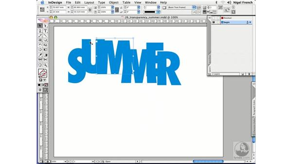 Transparency effects: InDesign CS2 Professional Typography