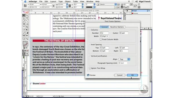 Vertical justification: InDesign CS2 Professional Typography