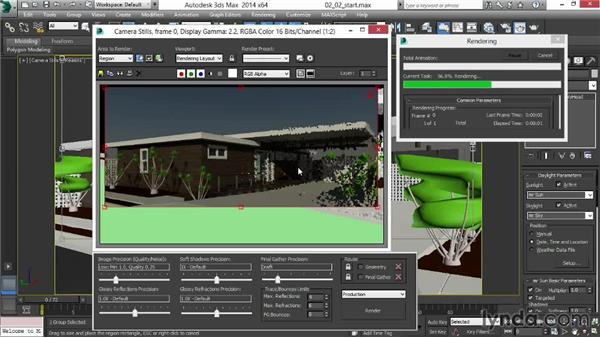 Softening the sun and shadows: Rendering Exteriors in 3ds Max